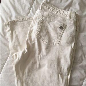 Michael Kors White Jean Straight Leg 18W Pants